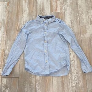 H&M Blue button down size 8-9 worn once